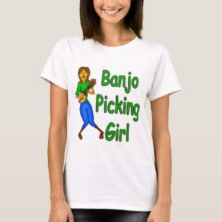 Camiseta Menina da colheita do banjo