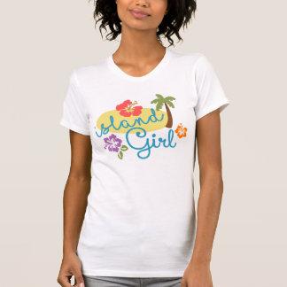 Camiseta Menina da ilha - jérsei americano da multa do