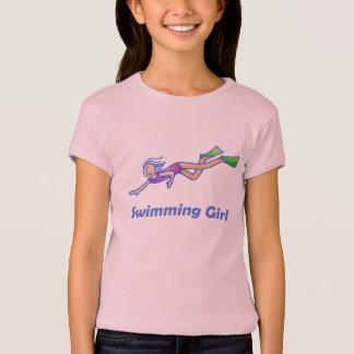 Camiseta Menina da natação