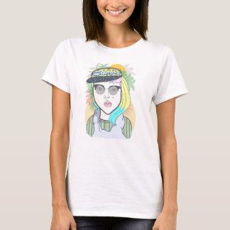 Camiseta Menina de Califórnia do hipster