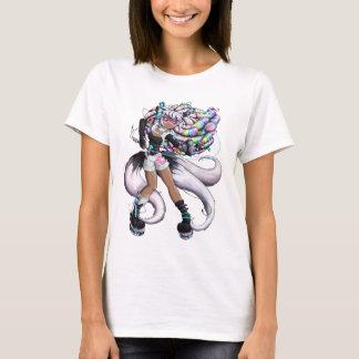 Camiseta Menina de Kitsune do Cyber