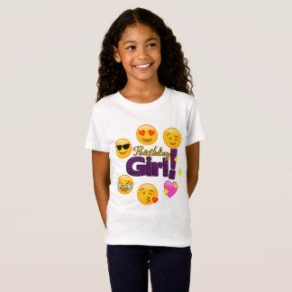Camiseta Menina do aniversário (emojis)