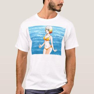 Camiseta Menina do biquini do Anime