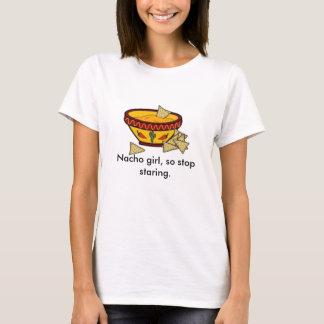 Camiseta Menina do Nacho, assim que olhar fixamente da