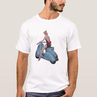 Camiseta Menina do patinete do vintage