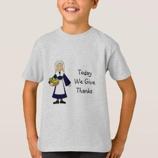 Camiseta Menina do peregrino da acção de graças