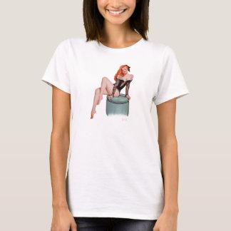 Camiseta Menina do Pinup do vintage