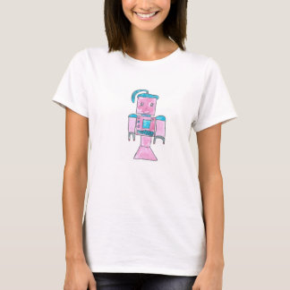 Camiseta Menina do robô