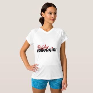 Camiseta Menina do rolo de BadAss, rolo Derby, patinando