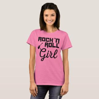 Camiseta Menina do rolo do ` n da rocha