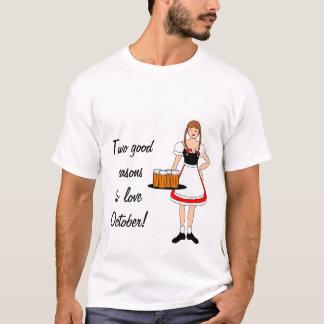 Camiseta Menina e cerveja de Oktoberfest -- Customizável