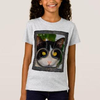 Camiseta Menina engraçada curiosa da foto do animal de