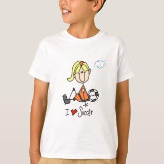 Camiseta Menina eu amo t-shirt e presentes do futebol