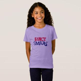 Camiseta menina extravagante e esperta