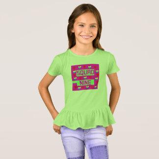 Camiseta Menina feminino do pelotão nove