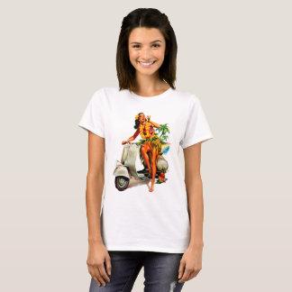 Camiseta Menina Havaí do patinete