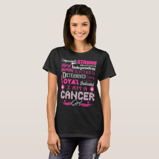 Camiseta Menina Loving segura forte compassivo do cancer