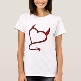 Camiseta Menina má - t-shirt pequeno do diabo