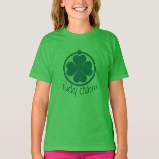 Camiseta Meninas afortunadas do trevo do encanto do dia do