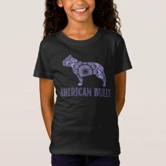 Camiseta Meninas americanas do t-shirt da intimidação da