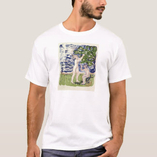 Camiseta Meninas de Edvard Munch que escolhem maçãs