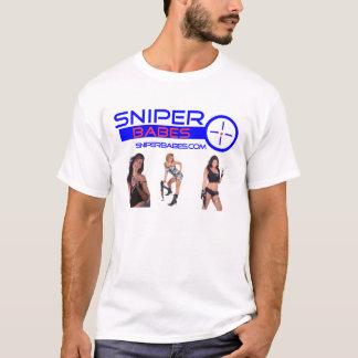 Camiseta meninas de SniperBabes.com com armas