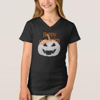 Camiseta Meninas do Dia das Bruxas V - t-shirt do pescoço