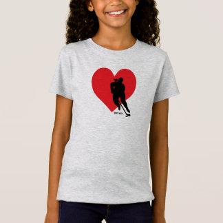 Camiseta Meninas do hóquei do coração do amor