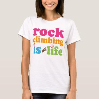 Camiseta Meninas do presente do montanhista de rocha