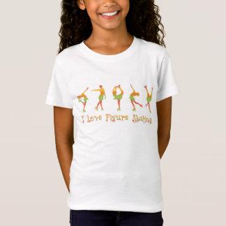 Camiseta MENINAS - patinagem artística do amor de I, melão