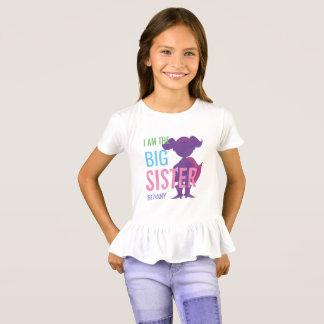 Camiseta Meninas personalizadas irmã mais velha da silhueta