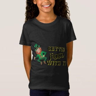 Camiseta Meninas que obtêm a Jiggy com ele T-preto do