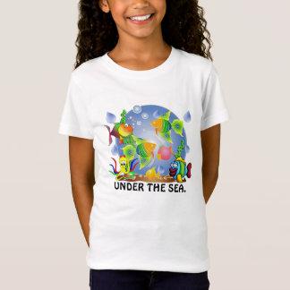 Camiseta meninas, t-camisa dos peixes dos meninos