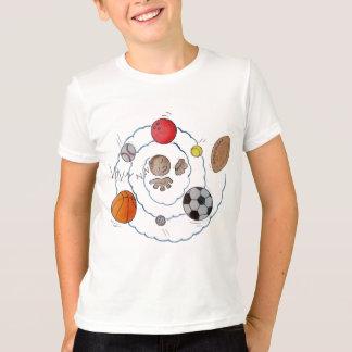 Camiseta Menino da criança dos desenhos animados que sonha