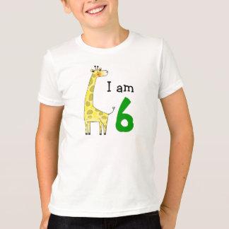 Camiseta Menino do aniversário da criança de 6