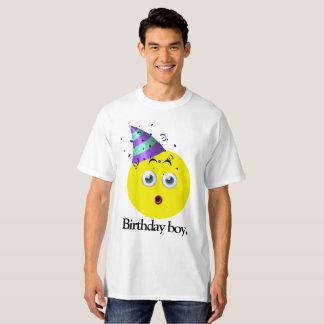 Camiseta Menino Emoji do aniversário