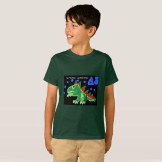Camiseta Menino; t-shirt de s com um dragão