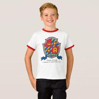 Camiseta Meninos nome de Andrew & protetor dos cavaleiros