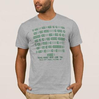 Camiseta Mensagem escondida binária de Nerdz