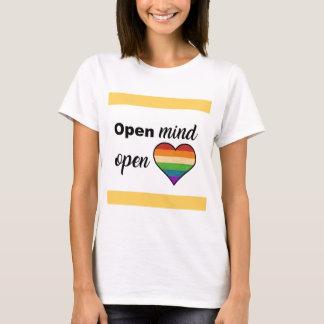 Camiseta Mente aberta, coração aberto
