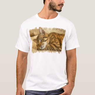 Camiseta Mentira deixada dos gatos do sono