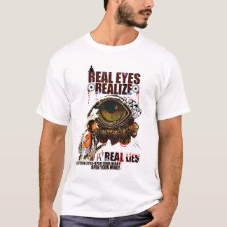 Camiseta Mentiras Olho-Realizar-Reais reais
