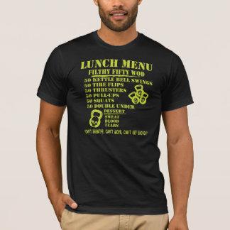 Camiseta Menu do almoço para os cinqüênta WOD sujos
