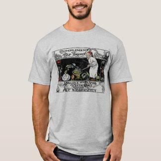 Camiseta Menu do restaurante do olmo e do marisco de Ernest