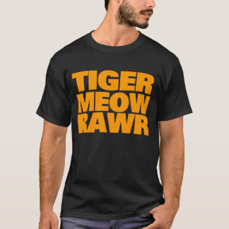 Camiseta MEOW ALARANJADO RAWR do TIGRE do anos 80 do TIGRE