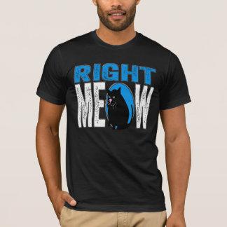 Camiseta MEOW direito! Piada engraçada do gato do gatinho