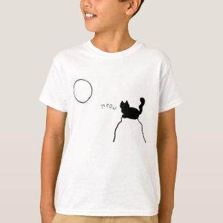 Camiseta Meow do gato preto