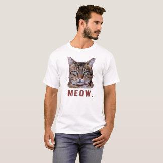 "Camiseta ""Meow."" Gato furado. t-camisa engraçada, bonito,"