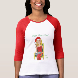 Camiseta Meow-olidays feliz! Amor Kat