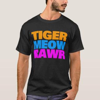 Camiseta MEOW TRICOLOUR RAWR do anos 80 do TIGRE de COREY